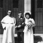 Lionel and Yo on their wedding day June 9, 1945.