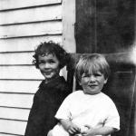 Lionel with his sister Germaine in 1927.