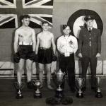 Lionel, the boxer, 2nd from left in 1944.