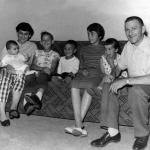Lionel and Yo with their family in 1959. From left Dorissa in Yo's arms, Dennis, Ean, Danielle, Paula and Lionel.
