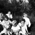 Back row: Germaine, Gerard, Lionel Front: Marcelle, Jean Guy, Therese Summer of 1934
